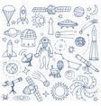 Doodle space elements vector image