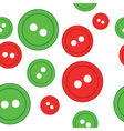 Seamless Buttons background vector image vector image