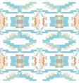 Aztec tribal seamless sky blue pattern vector image