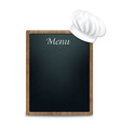 Black Chalk Board With Cook Cap vector image