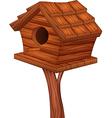 Cartoon of bird house vector image