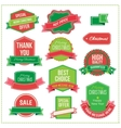 Christmas set - labels tags and decorative vector image