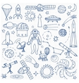 Doodle space elements vector image