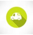 eco car icon vector image