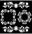 floral decorations ornamental frames and dividers vector image
