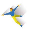 mens single skating figure skater training vector image