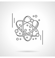 Molecule model flat line design icon vector image