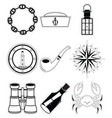 Nautical elements 4 sticker style vector image
