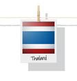 photo of thailand flag on white background vector image