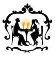 romantic couple vector image