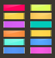 Torn Paper Set - Colorful Papers on Dark vector image
