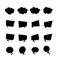 Blank black simple bubbles set white back pop art vector image
