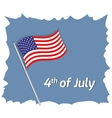 4th July greeting card vector image