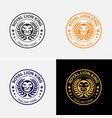 Royal lion badge logo template vector image