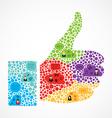 Social media thumb up design vector image vector image