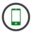 Smartphone flat green and gray colors rounded vector image
