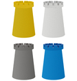 set of four color towers vector image vector image