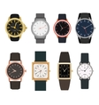 Set of watches in classic design vector image