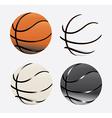 basketball poster vector image
