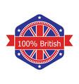 Britian flag badge vector image