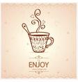 cup vintage vector image