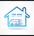 Free Home Delivery concept for increase the sell vector image