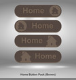 home button pack brown image vector image