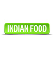 indian food green 3d realistic square isolated vector image