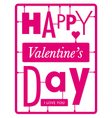 typographic valentines day card vector image vector image