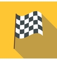 Racing flag icon flat style vector image