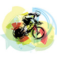sketch of male on a bicycle vector image vector image