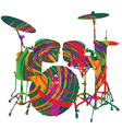 Abstract drum vector image vector image