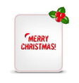 Christmas Banner With Holly Berry vector image