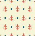 anchor and pearl pattern vector image vector image