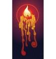 Burning decorative candle vector image