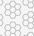 Perforated paper with hexagons forming flowers vector image