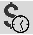 Dollar Credit Flat Icon vector image