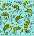 Chameleon collection seamless pattern for your vector image