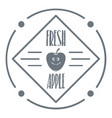 fresh apple logo vintage style vector image