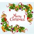 Merry Christmas poster Garland frame vector image