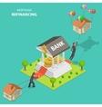 Mortgage refinancing isometric vector image