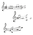 Music Treble clef and notes for your design on a vector image