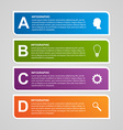 Paper infographic design template vector image