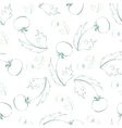 Seamless pattern of sketch dandelion vector image