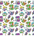seamless pattern with fantastic things vector image