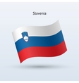 Slovenia flag waving form vector image