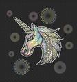 unicorn icon vector image