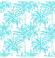 seamless pattern with coconut palm trees vector image