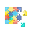 2 April as World Autism Day Color Puzzles vector image