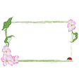 frame with apple flower and ladybird vector image